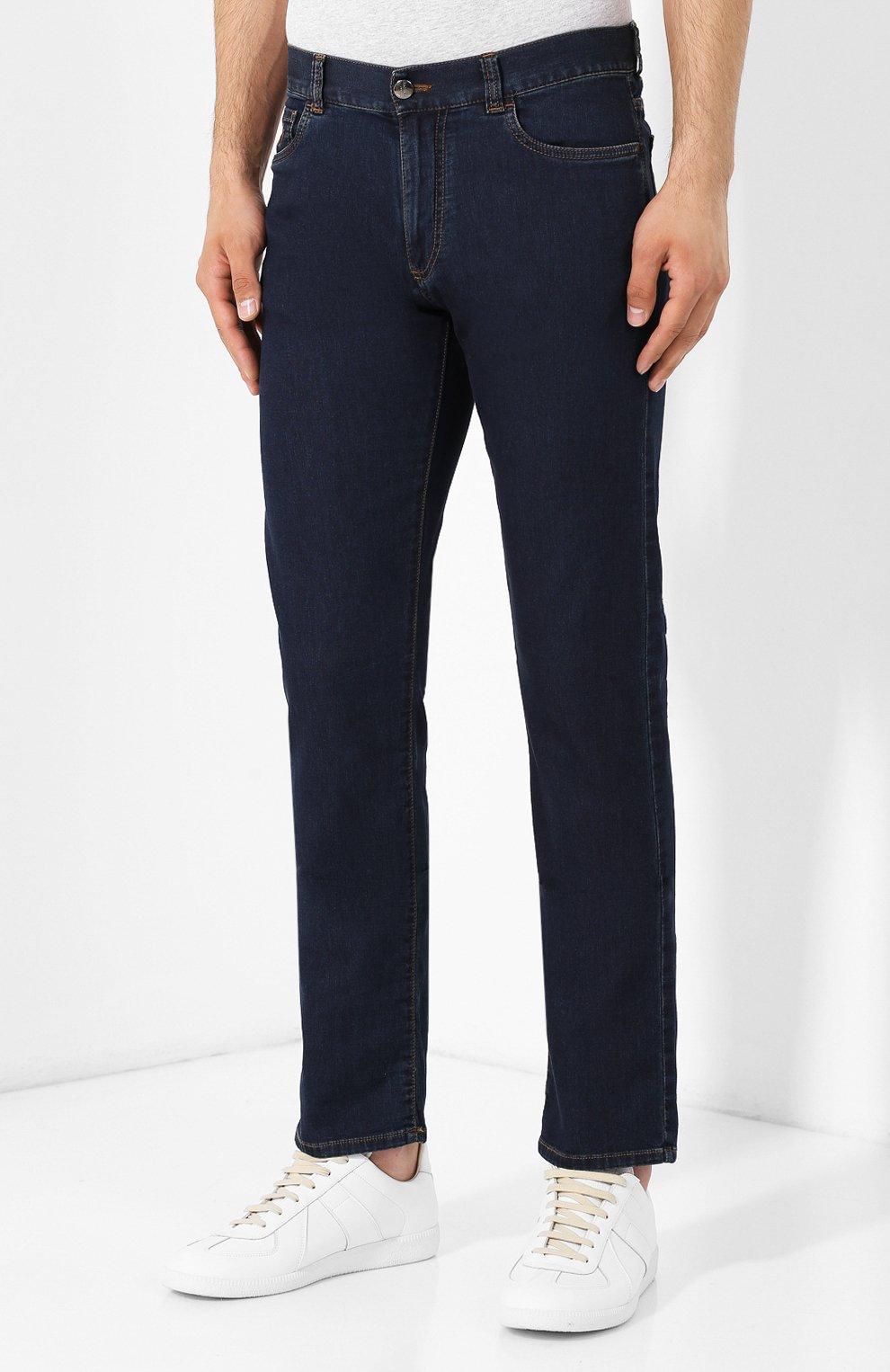 Мужские джинсы CANALI темно-синего цвета, арт. 91700R/PD00537 | Фото 3