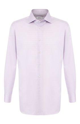 Мужская хлопковая сорочка BRIONI светло-розового цвета, арт. RCLU0W/0807C | Фото 1