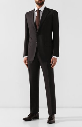 Мужская хлопковая сорочка BRIONI светло-серого цвета, арт. RCLU20/0806R | Фото 2