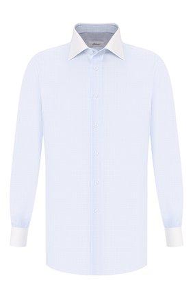 Мужская хлопковая сорочка BRIONI голубого цвета, арт. RCLU20/0806R | Фото 1