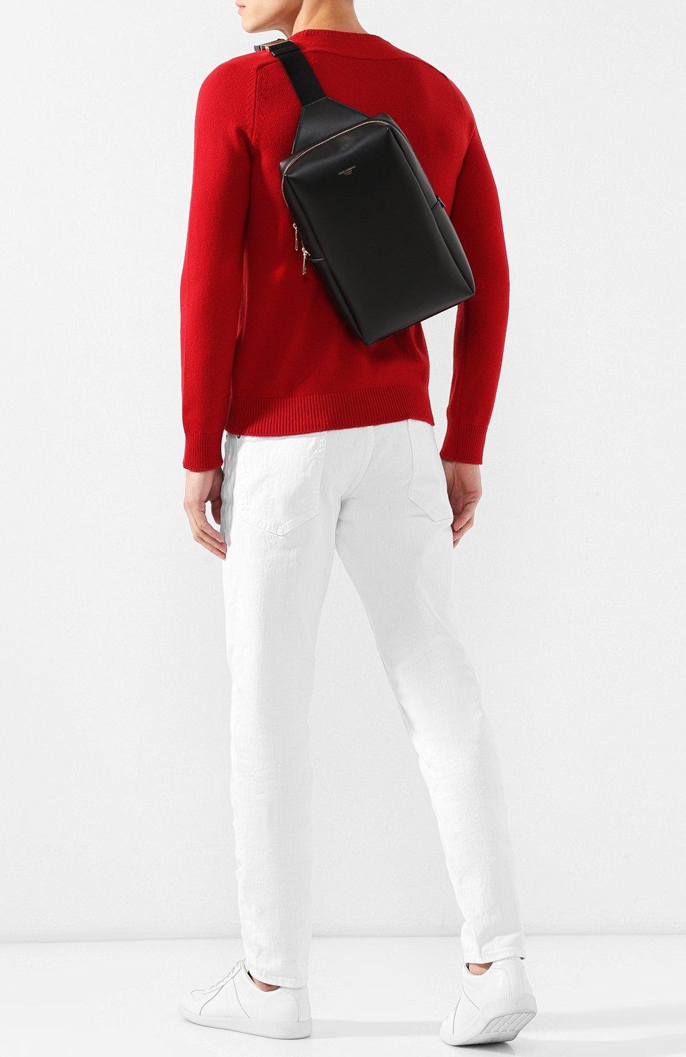 Мужской кожаный рюкзак montreale DOLCE & GABBANA черного цвета, арт. BM1689/AC954 | Фото 2