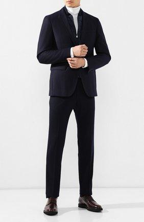 Мужской кожаные дерби TOD'S бордового цвета, арт. XXM53B0H370LYG | Фото 2