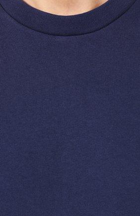 Мужская хлопковая футболка KENZO темно-синего цвета, арт. F005TS0434BD | Фото 5