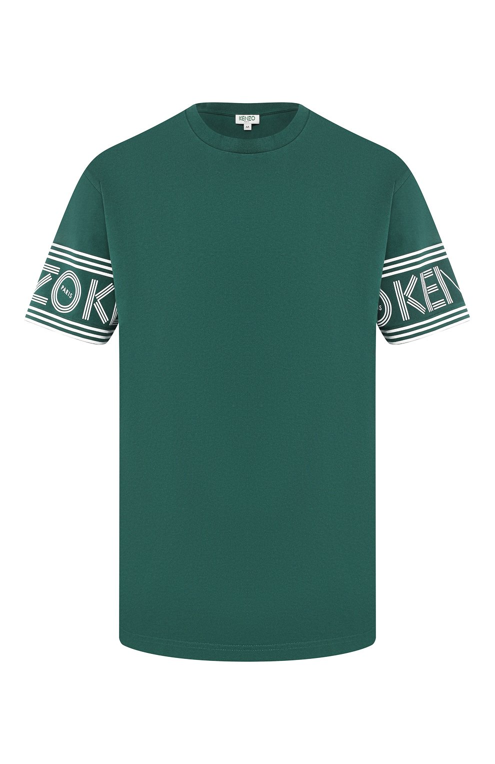 Мужская хлопковая футболка KENZO зеленого цвета, арт. F565TS0434BD | Фото 1