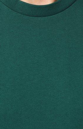 Мужская хлопковая футболка KENZO зеленого цвета, арт. F565TS0434BD | Фото 5