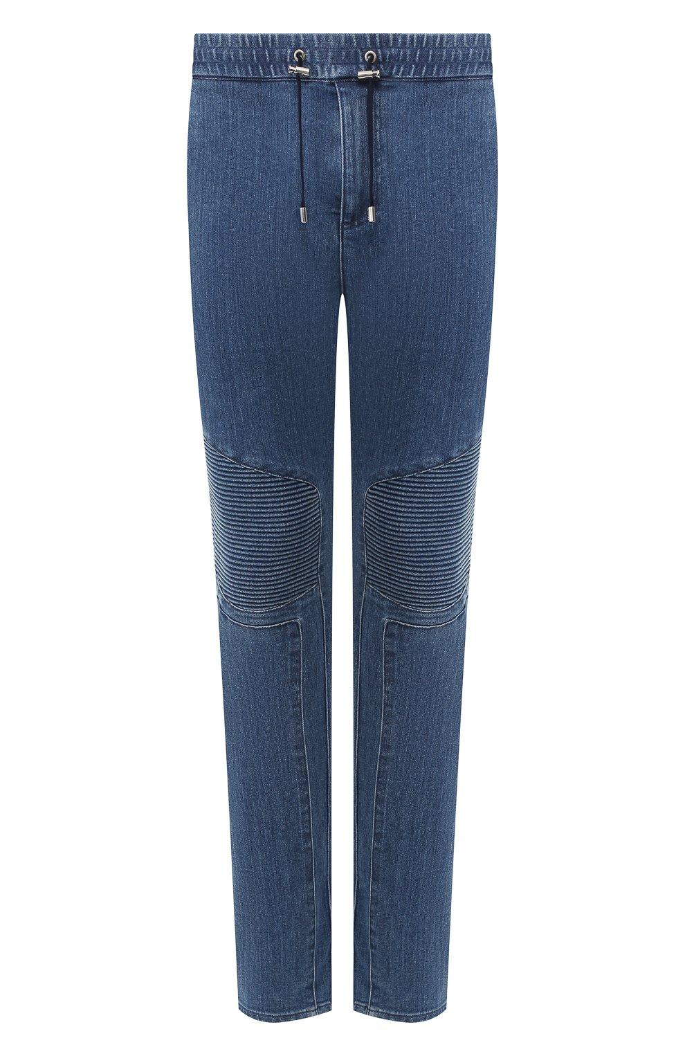 Мужские джинсы BALMAIN синего цвета, арт. SH15256/Z191   Фото 1
