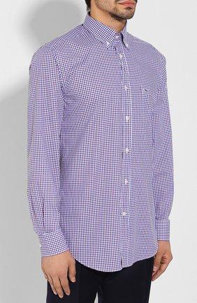 Мужская хлопковая сорочка PAUL&SHARK разноцветного цвета, арт. C0P3007/C00 | Фото 3