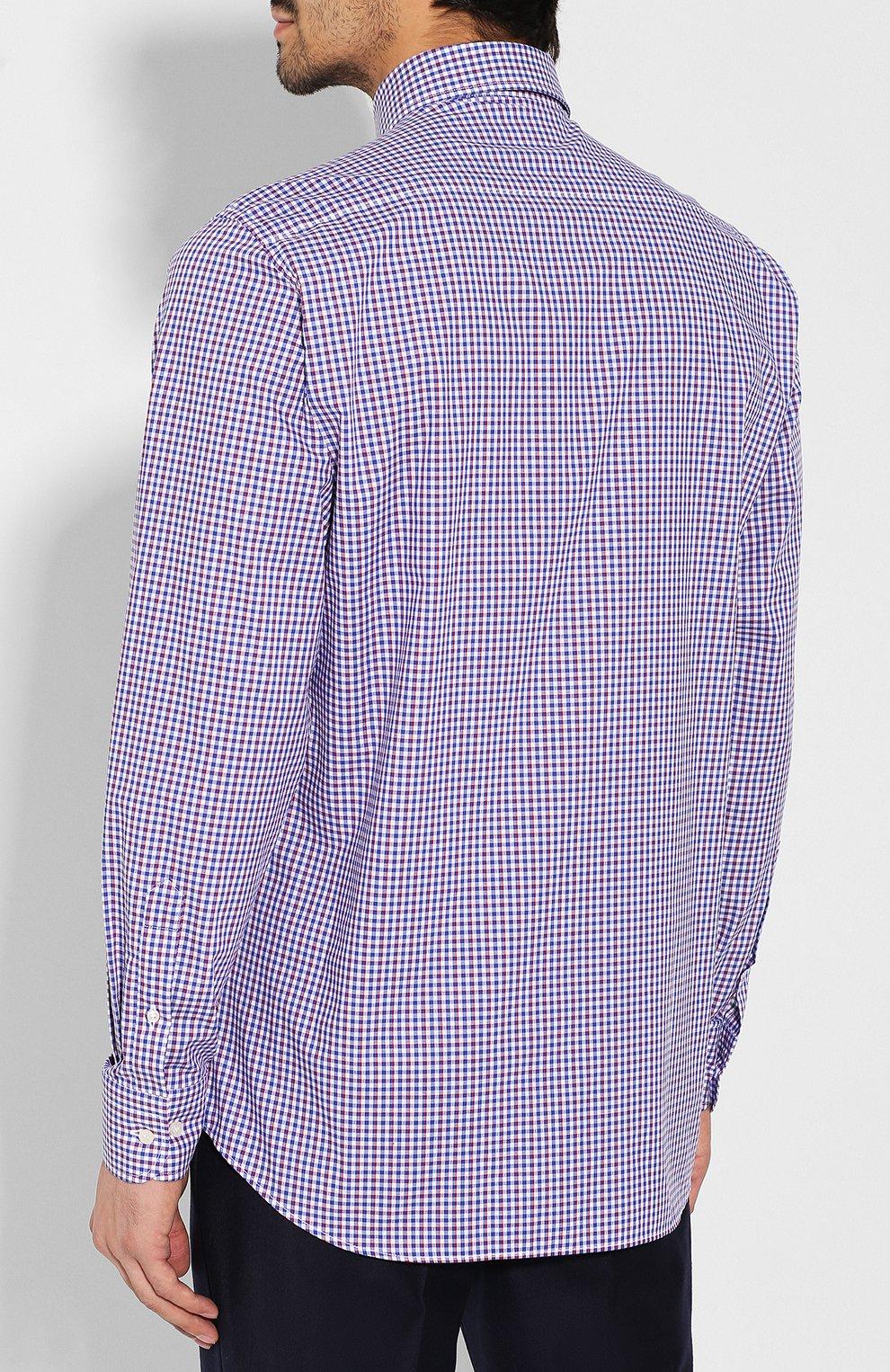 Мужская хлопковая сорочка PAUL&SHARK разноцветного цвета, арт. C0P3007/C00 | Фото 4