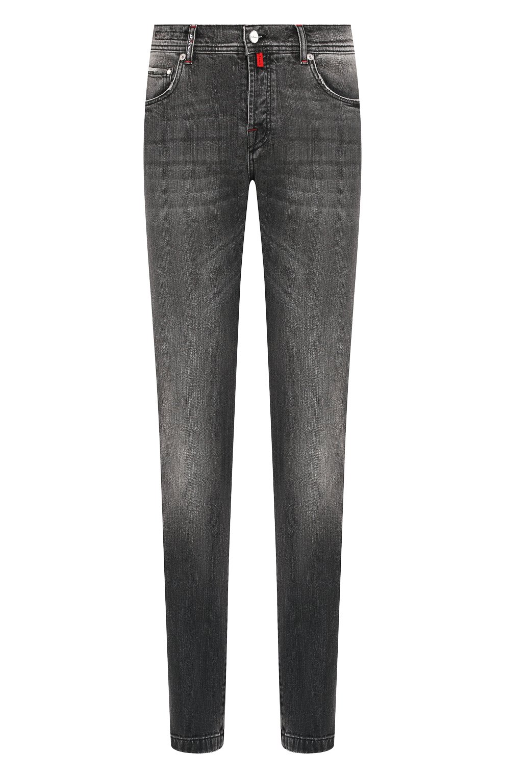 Мужские джинсы KITON серого цвета, арт. UPNJS/J03S53 | Фото 1