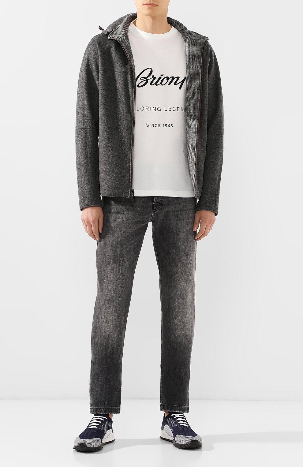 Мужские джинсы KITON серого цвета, арт. UPNJS/J03S53 | Фото 2