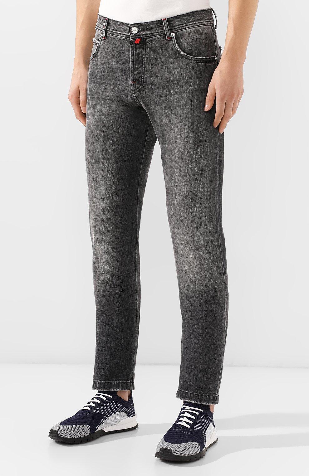Мужские джинсы KITON серого цвета, арт. UPNJS/J03S53 | Фото 3