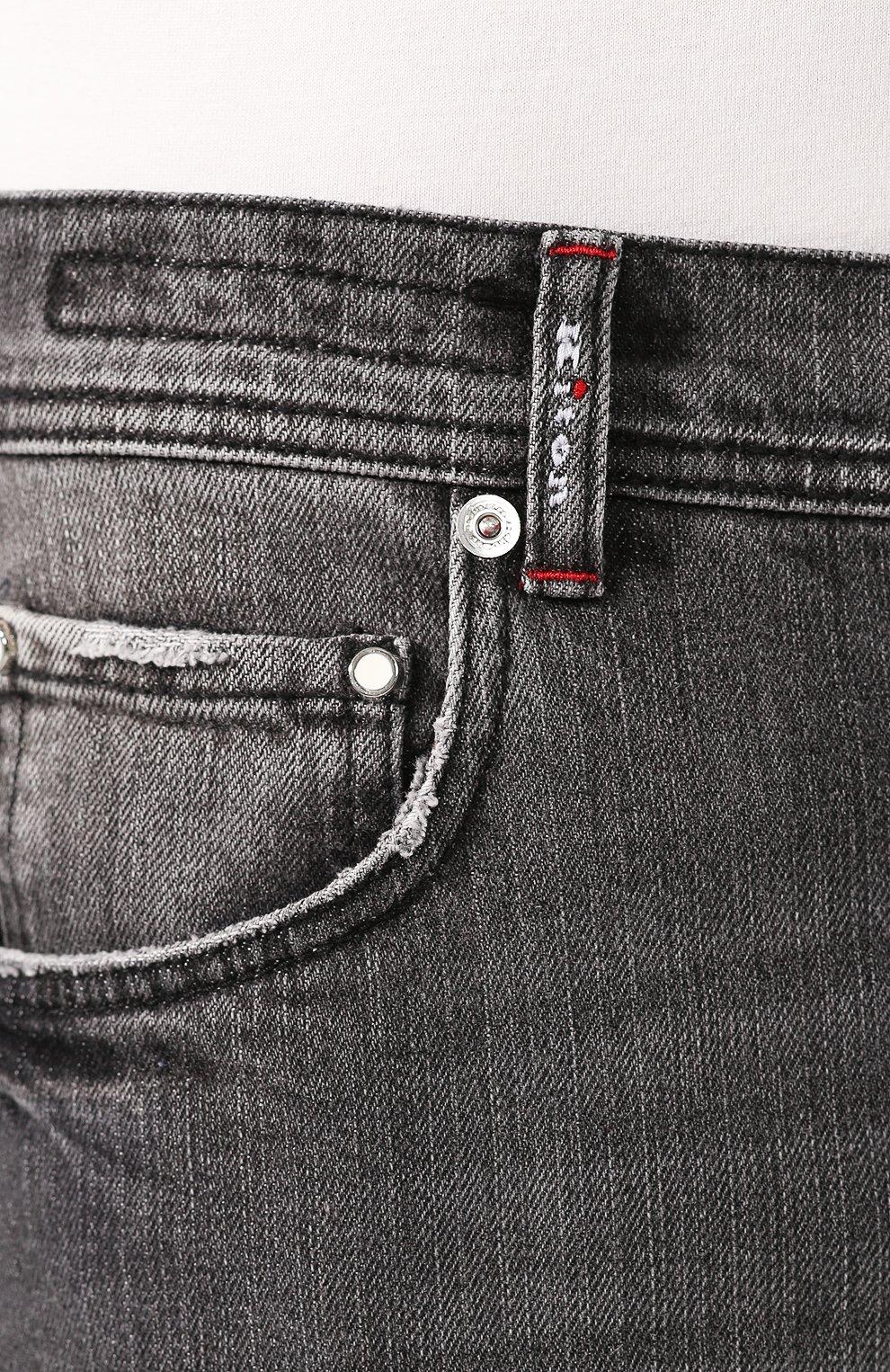 Мужские джинсы KITON серого цвета, арт. UPNJS/J03S53 | Фото 5