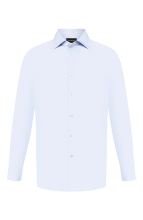 Мужская хлопковая сорочка ERMENEGILDO ZEGNA голубого цвета, арт. 601211/9RS0BR | Фото 1