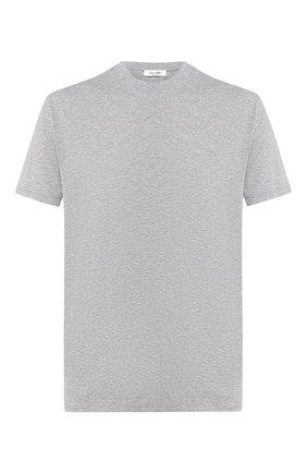 Мужская хлопковая футболка VALENTINO серого цвета, арт. SV3MG08Y3LE | Фото 1