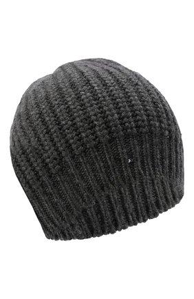 Женская шапка из смеси кашемира и шелка BRUNELLO CUCINELLI серого цвета, арт. M32373999 | Фото 1