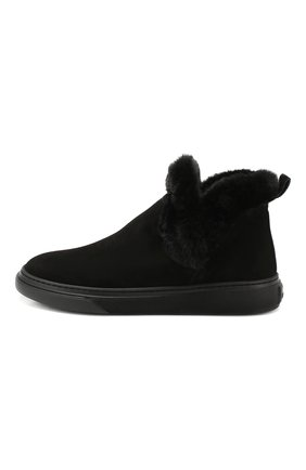 Женские замшевые ботинки HOGAN черного цвета, арт. HXW3660A030JFH   Фото 3