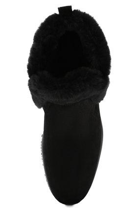 Женские замшевые ботинки HOGAN черного цвета, арт. HXW00N0AL80K6V | Фото 5