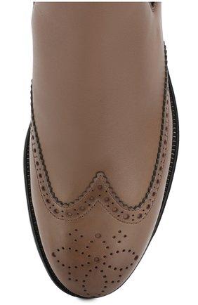 Женские кожаные челси SANTONI хаки цвета, арт. WTEK58202SMCTNL0M18   Фото 5