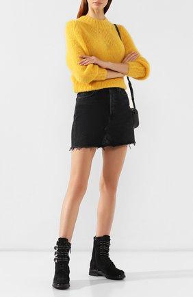 Женские замшевые ботинки PERTINI черного цвета, арт. 192W16377C1 | Фото 2