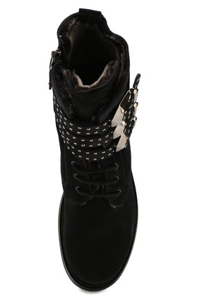 Женские замшевые ботинки PERTINI черного цвета, арт. 192W16377C1 | Фото 5