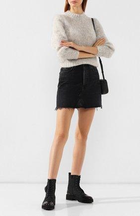Женские комбинированные ботинки PERTINI черного цвета, арт. 192W16498D1 | Фото 2