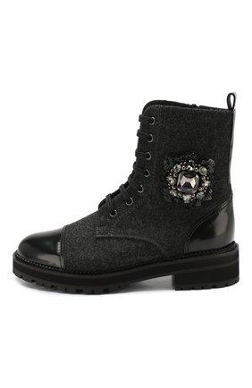 Женские комбинированные ботинки PERTINI черного цвета, арт. 192W16498D1 | Фото 3