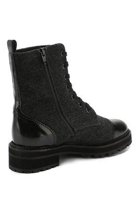Женские комбинированные ботинки PERTINI черного цвета, арт. 192W16498D1 | Фото 4