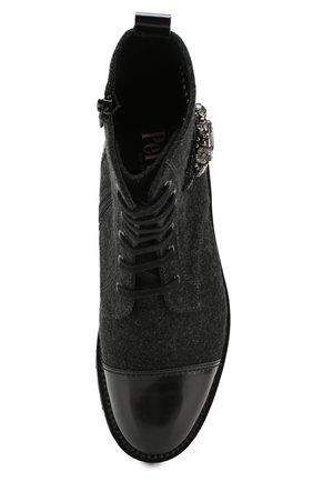 Женские комбинированные ботинки PERTINI черного цвета, арт. 192W16498D1 | Фото 5