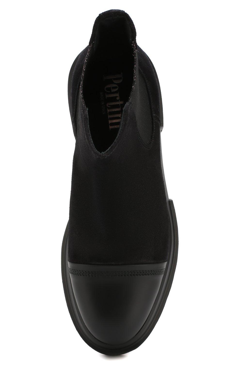 Женские замшевые челси PERTINI черного цвета, арт. 192W16507D1 | Фото 5