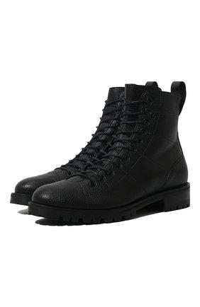 Женские кожаные ботинки cruz JIMMY CHOO черного цвета, арт. CRUZ FLAT/GNL | Фото 1