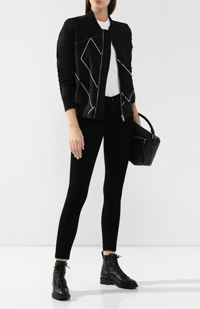 Женские кожаные ботинки cruz JIMMY CHOO черного цвета, арт. CRUZ FLAT/GNL | Фото 2