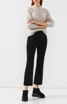 Женские замшевые ботинки PERTINI черного цвета, арт. 192W16508C27 | Фото 2