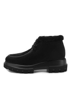 Женские замшевые ботинки PERTINI черного цвета, арт. 192W16508C27 | Фото 3