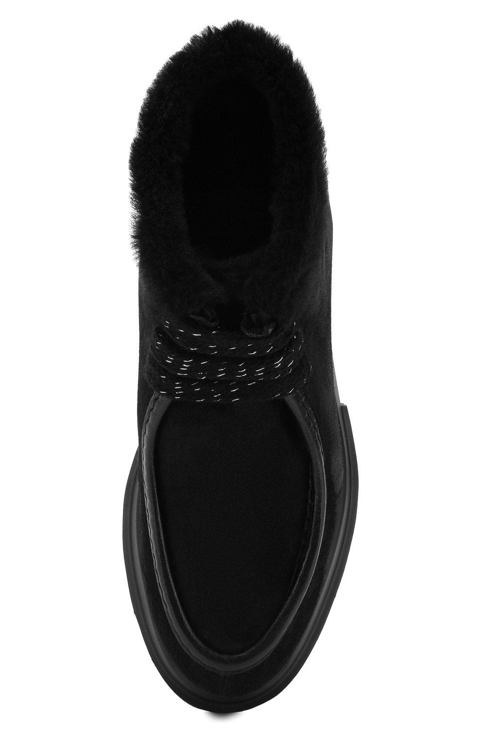 Женские замшевые ботинки PERTINI черного цвета, арт. 192W16508C27 | Фото 5