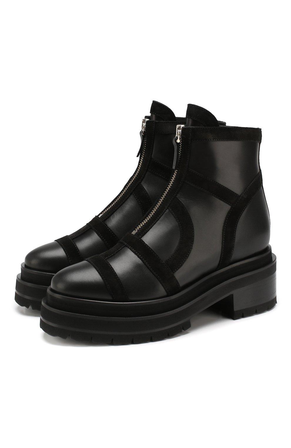 Женские кожаные ботинки frame PIERRE HARDY черного цвета, арт. SE01/CALF-SUEDE CALF | Фото 1
