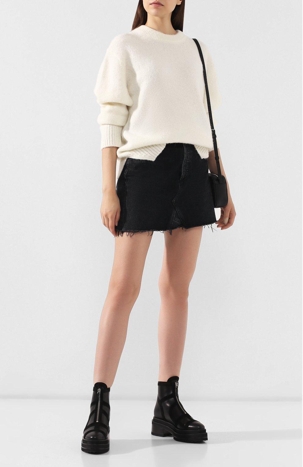 Женские кожаные ботинки frame PIERRE HARDY черного цвета, арт. SE01/CALF-SUEDE CALF | Фото 2