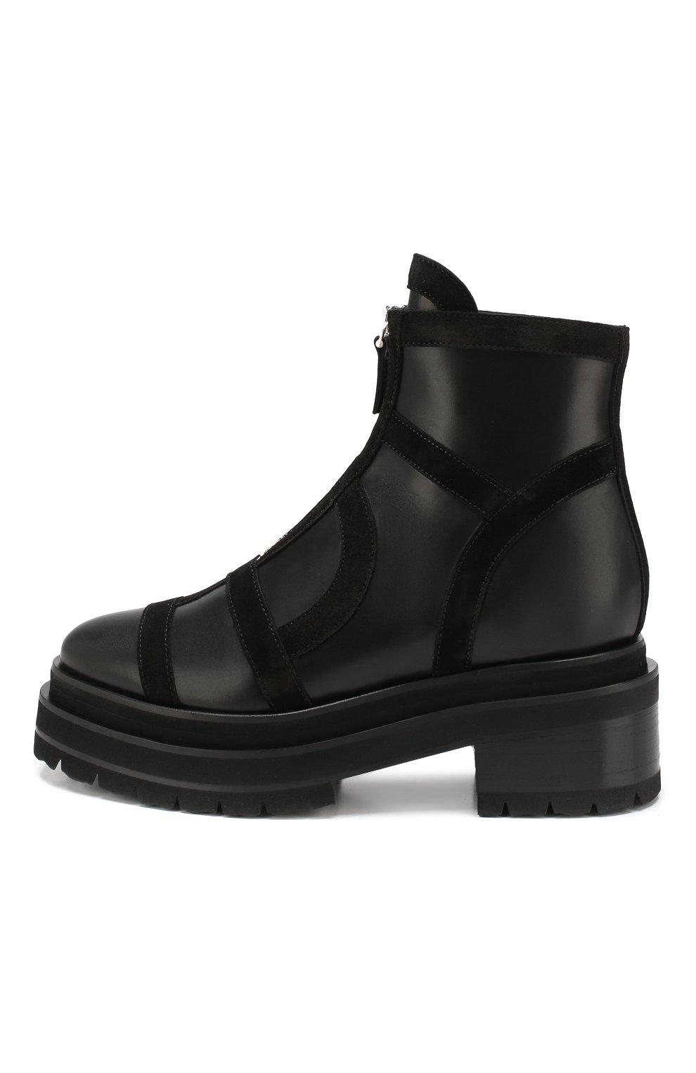 Женские кожаные ботинки frame PIERRE HARDY черного цвета, арт. SE01/CALF-SUEDE CALF | Фото 3