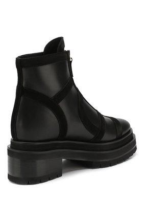 Женские кожаные ботинки frame PIERRE HARDY черного цвета, арт. SE01/CALF-SUEDE CALF | Фото 4