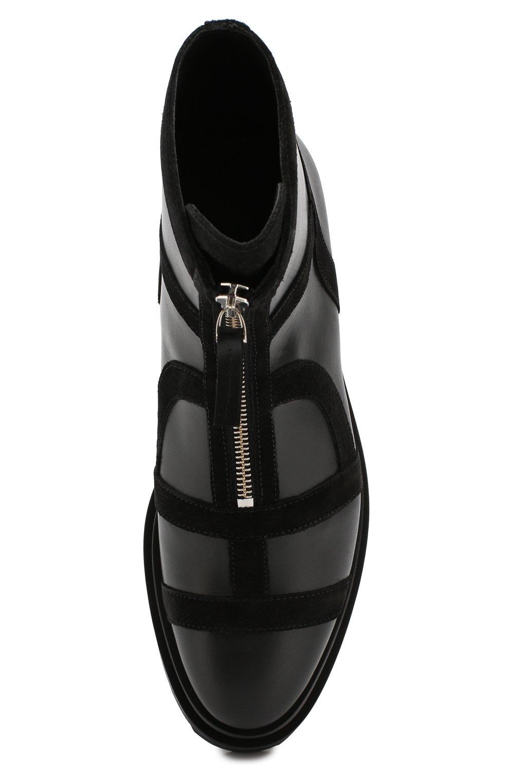 Женские кожаные ботинки frame PIERRE HARDY черного цвета, арт. SE01/CALF-SUEDE CALF | Фото 5