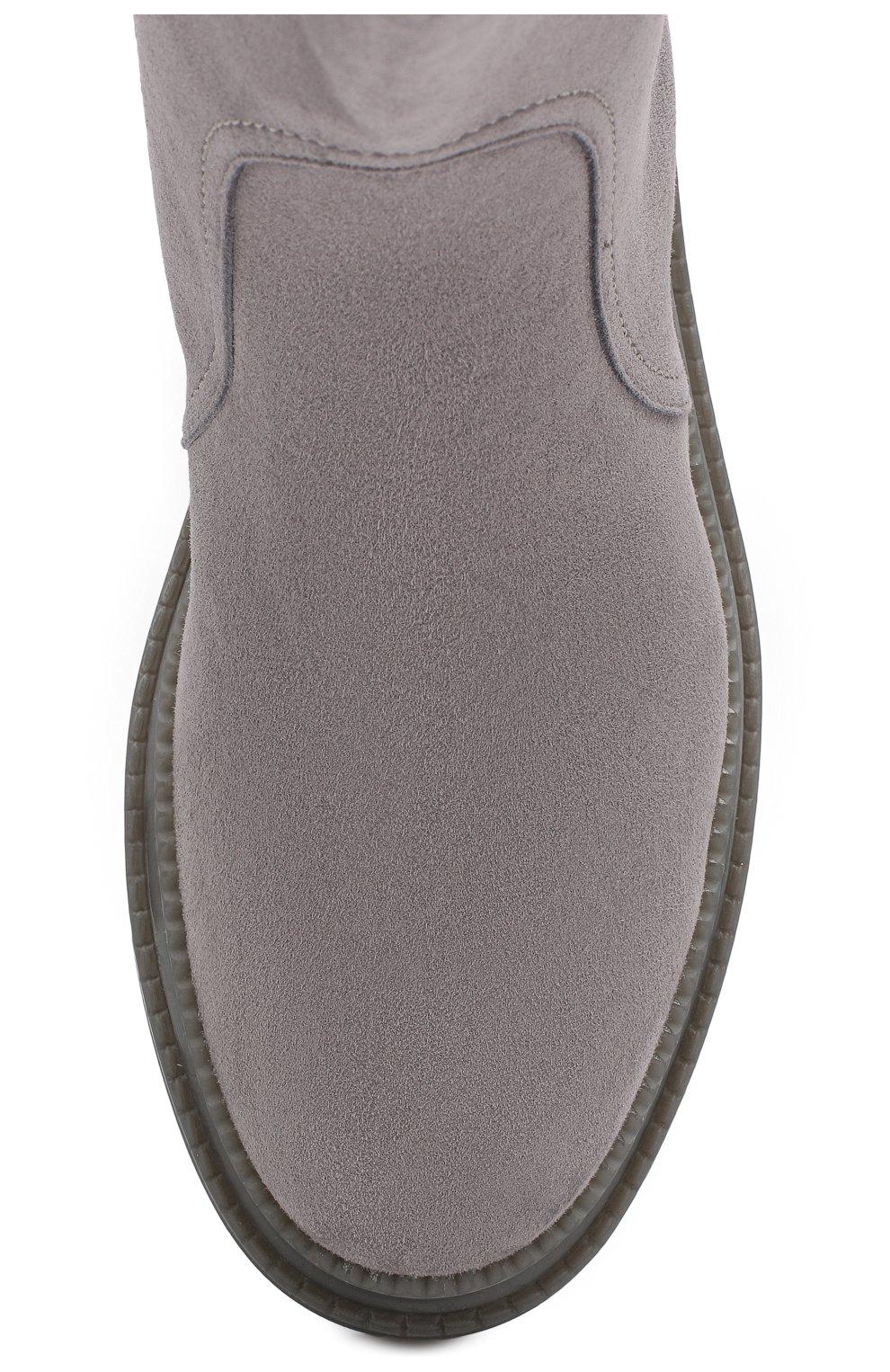 Женские замшевые челси CASADEI темно-серого цвета, арт. 1R131N0201CAM0S9200 | Фото 5