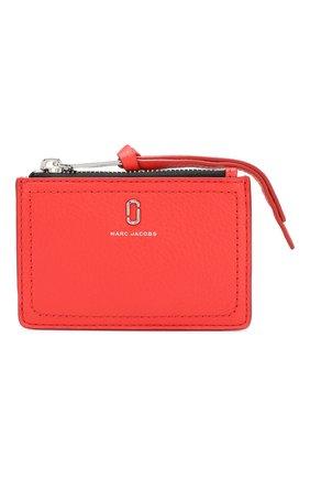 Женский кожаный футляр для кредитных карт MARC JACOBS (THE) красного цвета, арт. M0015123 | Фото 1