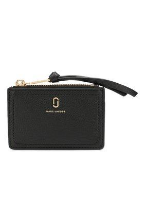 Женский кожаный футляр для кредитных карт MARC JACOBS (THE) черного цвета, арт. M0015123 | Фото 1