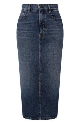 Женская джинсовая юбка BOSS темно-синего цвета, арт. 50415569 | Фото 1