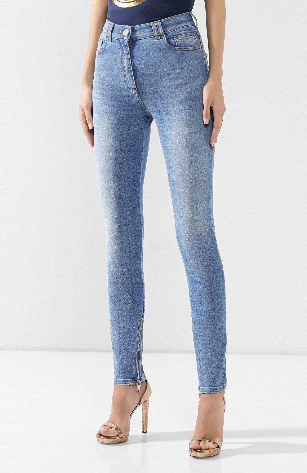 Женские джинсы BALMAIN голубого цвета, арт. SF15592/D067 | Фото 3