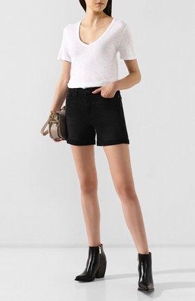 Женская льняная футболка ISABEL MARANT ETOILE белого цвета, арт. TS0377-00M004E/KRANGER   Фото 2