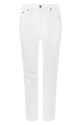 Женские джинсы с потертостями AG белого цвета, арт. DSD1753RH/01Y0BW | Фото 1