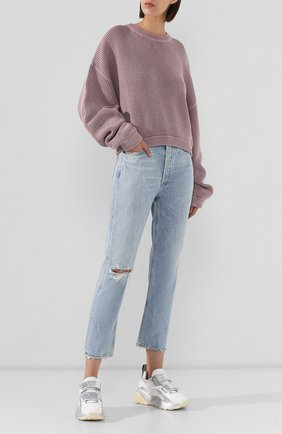 Женские джинсы с потертостями AGOLDE голубого цвета, арт. A056B-983   Фото 2
