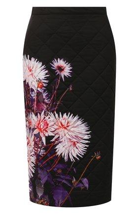 Женская стеганая юбка DRIES VAN NOTEN черного цвета, арт. 192-30815-8537 | Фото 1