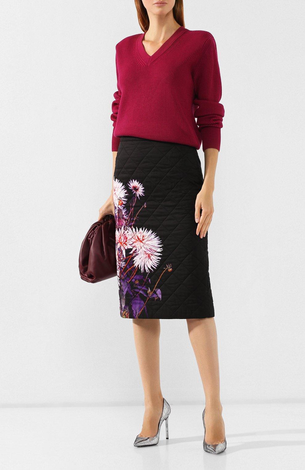 Женская стеганая юбка DRIES VAN NOTEN черного цвета, арт. 192-30815-8537 | Фото 2