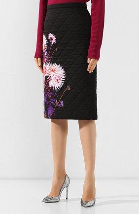 Женская стеганая юбка DRIES VAN NOTEN черного цвета, арт. 192-30815-8537 | Фото 3
